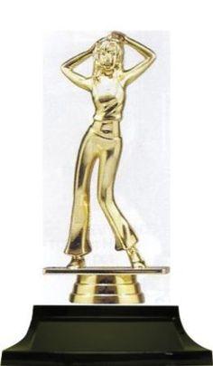 Jazz Dancer - This is a great value trophy! Gold plastic coated female jazz dancer mounted on black base Dance Awards, Coats For Women, Jazz, Dancer, Female, Girls Coats, Jazz Music, Dancers, Women's Coats