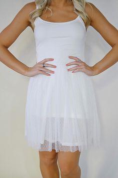 Happy Sunday Dress (White)