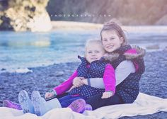 children's photography   sisters by the river.