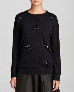 kate spade new york Embellished Front Sweater | Bloomingdale's