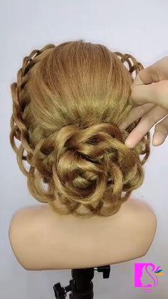 Bun Hairstyles For Long Hair, Braids For Short Hair, Braided Hairstyles, Hair Up Styles, Goddess Hairstyles, Hairstyle Tutorials, Goddess Braids, Hair Affair, Hair Videos