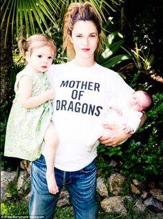 Love it! Drew Barrymore, mother of dragons (Daenerys)