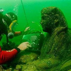 From the remains of Cleopatra's castle to the lost graves of towns inhabited a mere fifty years ago, these submerged wonders hide ruins under seas and rivers.