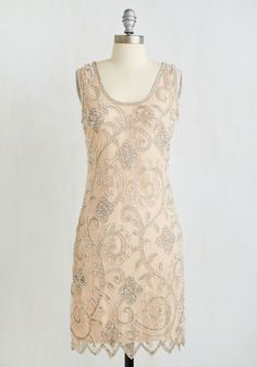 Your Plaza or Mine? Dress. Take your pick from local parks through which to masquerade in this marvelous 20s-inspired dress! #blush #prom #modcloth