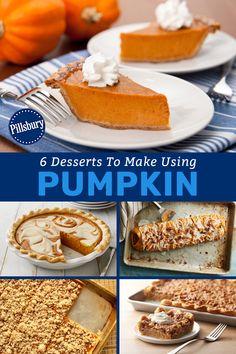 Desserts To Make, Fall Desserts, Delicious Desserts, Yummy Food, Pumpkin Recipes, Fall Recipes, Sweet Recipes, Holiday Recipes, Pumpkin Dessert