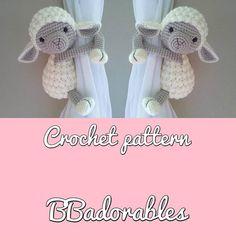 Buttercup tieback de la cortina cordero ganchillo patrón