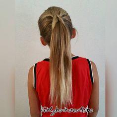 Cool ponytail.