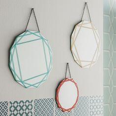 Mes miroirs décorés au masking tape