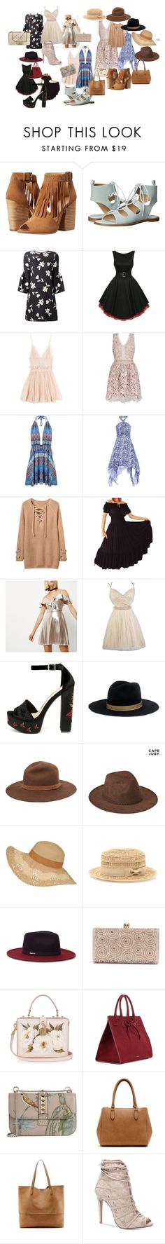 """Untitled #393"" by mommacarter ❤ liked on Polyvore featuring Chinese Laundry, Carolina Herrera, Alexander McQueen, River Island, Janessa Leone, rag & bone, Aéropostale, Bebe, Ted Baker and Dolce&Gabbana"