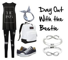 """""""Day out with the bestie"""" by music-lover-885095 on Polyvore featuring Converse, JanSport and Eternally Haute"""