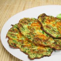 Broccoli Pancakes  Description Even if your kids dont like broccoli, they will eat these pancakes. You can serve them as a side dish, however they are certainly a meal on their own if you want to serve them as an entrée. Broccoli and other cruciferous vegetables including cauliflower, Brussels sprouts, cabbage, turnip greens and kale are rich in antioxidants, which help protect against both cancer and heart disease.