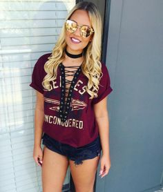 10 Adorable Gameday Outfits at Florida State University - Fall College Outfits, Outfits For Teens, Fall Outfits, Cute Outfits, Outfit Winter, Florida Outfits, Tailgate Outfit, Florida State University, How To Wear