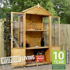 NEW 4x2FT 4x2  4 x 2 FT WOODEN MINI GROW HOUSE COMPACT GREENHOUSE