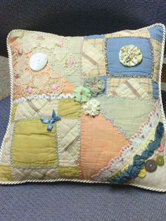 crazy quilt pillow!