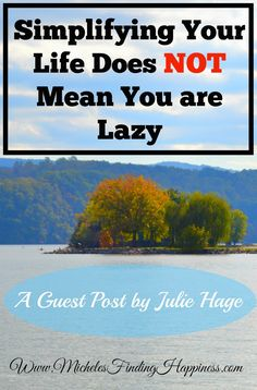 "In this guest post Julie Hage explains why simplifying can help you in your quest for happiness and how to handle those negative ninnies who say things like ""wow must be nice"""