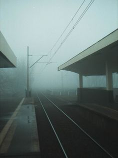 Waiting for something to emerge from the fog. Dark Photography, Street Photography, Between Two Worlds, End Of The World, Aesthetic Pictures, Abandoned Places, Trains, Scenery, Landscape