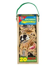 Take a look at this Wild Animals MagnAnimals Magnet Set by T.S. Shure on #zulily today!