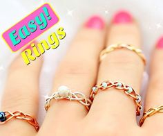 I love simple diy projects and simple life hacks so in this tutorial Ill show you just that! I am yet again creating DIY Easy rings and this time I have 5 braided DIY rings. :) I also think I'll make it a regular monthly thing as I really enjoy coming up Diy Jewelry Rings, Diy Jewelry Making, Jewelry Crafts, Beaded Jewelry, Jewelry Ideas, Handmade Jewelry, Diy Jewelry To Sell, Jewelery, Handmade Rings
