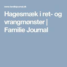 Hagesmæk i ret- og vrangmønster | Familie Journal
