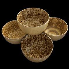 Sepia Japanese porcelain serving bowls / Abodeon