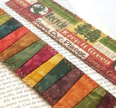 Hand Dyed Bookmarks