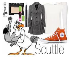 """Scuttle~ DisneyBound"" by basic-disney ❤ liked on Polyvore featuring Bling Jewelry, M.i.h Jeans, Finders Keepers, Relaxfeel, Converse, NARS Cosmetics, MAC Cosmetics and Maybelline"