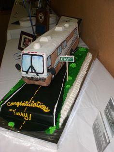 Retirement cake.  Replica of his actual RV