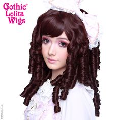 Gothic Lolita Wigs® <br> Ringlet Redux™ Collection - Black Mahogany Burgundy