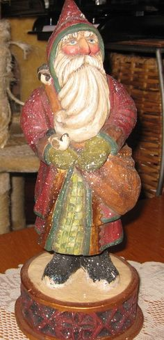 "Pam Schifferl 12"" Tall Santa with Toy Sack Figure- Hard to Find!"