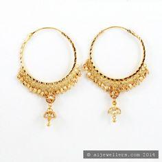 22ct Indian Gold Hoop Earrings (1)