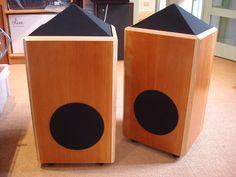 Shahinian Obelisk loudspeakers.