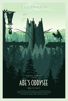 Abe's Oddysee Poster by Conor Smyth