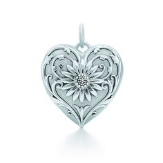 Ziegfeld Collection daisy locket in sterling silver, large.