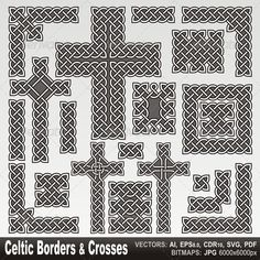 Celtic borders and crosses - GraphicRiver Item for Sale