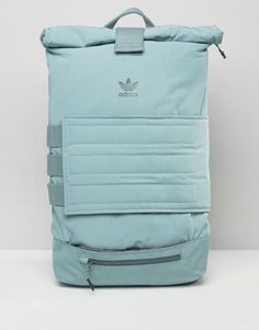 adidas Originals Roll Top Backpack In Bluegrass