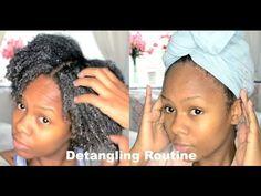 My Natural Hair Detangling Routine | Angela Lauren - YouTube