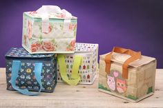 Insulated Coolbags with Handles - Floral Chintz, Elephant, Beach Huts and Love Owls #picnic #coolbag #accessories #owls #chintz #cycle #giftware