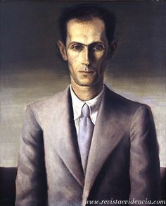 Portrait of Carlos Drummond de Andrade by Candido Portinari (Brazilian 1903-1962) Diego Rivera, Pablo Picasso, Clemente Orozco, South American Art, Beauty First, Post Impressionism, Art Database, Figure Painting, Face Art