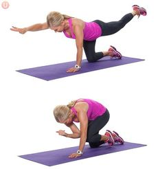Learn how to do a bird dog crunch for flat abs.