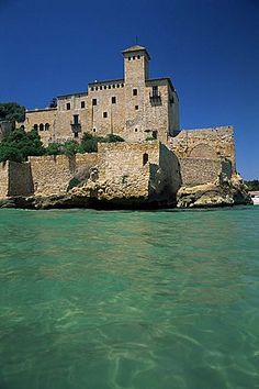 Tamarit Castle in Tarragona on Costa Dorada - Catalonia, Spain Places Around The World, Around The Worlds, Destinations, Castle Ruins, Beautiful Castles, Spain And Portugal, Kirchen, Spain Travel, Wonders Of The World