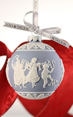 Wedgwood Merry Christmas & Happy New Year Ornament from Crystal Classics