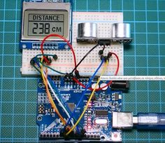 Ultrasonic Distance Meter With Arduino and a Nokia 5110 Display.