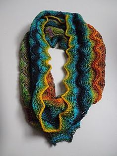 Cowl knit in one of my favorite yarn, Crazy Zauberball.