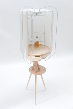 Thomas Schneider is a recent cabinetmaking graduate who designed this whisky cabinet named Harper. Made out of ash and folded paper, the cab...