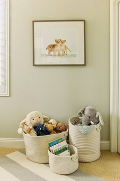 ~stuffed animal storage idea~  The HONEYBEE: Luca's Neutral Nursery