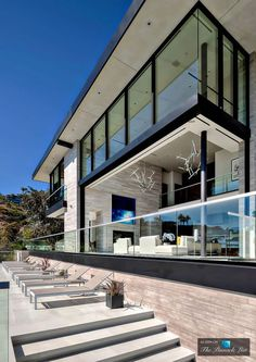 Modern architecture house design with minimalist style and luxury exterior and interior and using the perfect lighting style is inspiration for villas mansions penthouses Dream Home Design, Modern House Design, Residential Architecture, Modern Architecture, Future House, Luxury Penthouse, Los Angeles Homes, Exterior Design, Luxury Homes