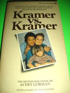 KRAMER VS. KRAMER BY AVERY CORMAN 1978 SIGNET MOVIE TIE-IN BOOK DUSTIN HOFFMAN