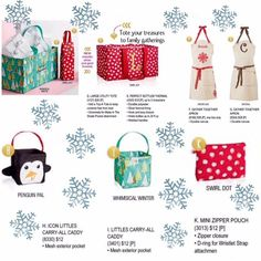 Thirty One's Christmas Line goes LIVE October 1st!  Tons of gift ideas!