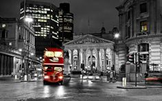 London Double-decker At Night