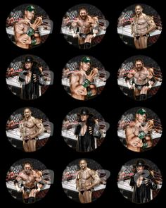 WWE 25 ROUND STICKERS Cupcake Toppers QuynhTessential Marketing Party